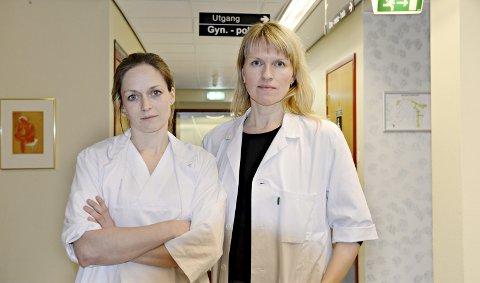 AVSLØRER TALLBRUKEN: De konstituerte overlegene Heidi Sandvig (til venstre) og Lisa Skiphamn er svært kritiske til helseforetakets bruk av statistikk. Sandvig har fått tallene ettergått av en professor i helsestatistikk, som ikke er nådig mot metodikken som er brukt. Stortingspolitikere mener forholdet er alvorlig, ettersom de påpståtte kvalitetsforskjellene er gjengitt som et faktum av helseministeren.