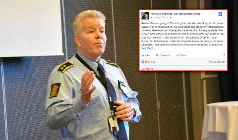 BER RUSSEN OM Å OPPFØRE SEG: Leder av ordensavdelingen ved Tønsberg politistasjon, Frank Gran.