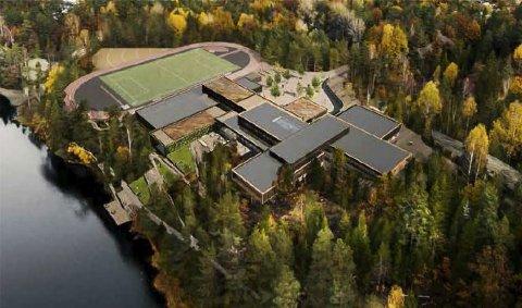 Mjåvann: Skolens visjon er «Skolen som tar deg videre». Kunstnerne var på befaring på byggeplassen i august.