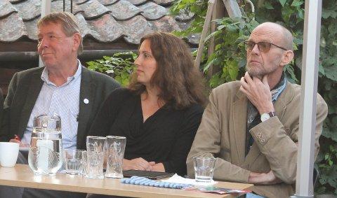 STERKERE SAMMEN: Rødt, MDG og SV, her representert ved Jan Wollnick, Marita Kristiansen og Kjell Meek, har gjennom et valgteknisk samarbeid sikret de tre partiene to plasser i formannskapet. Uten samarbeid ville kun MDG hatt plass.