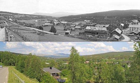 FOTO: Anders Beer Wilse var en norsk fotograf og er kjent for sin dokumentasjon av Norge. Han fotograferte Tolga på en av sine reiser og i forrige uke var landskapsfotograf Oskar Pushmann tilbake på samme sted.