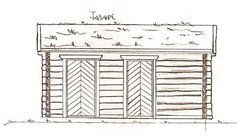 Tradisjonelt: Slik blir toalettbyggene ved Brandstad, Trolltind og Nerdal seende ut. Tegninger: Tradisjonsbygg AS