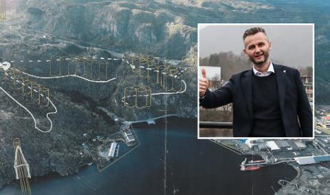 POSITIV: Ordfører Per Sverre Kvinlaug (KrF) er positiv til tankene til Kvina Energy Park.