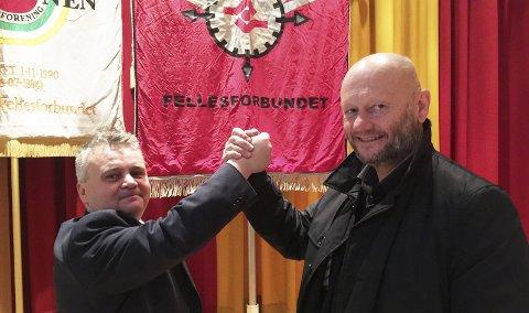 GAMLE KJENTE: Leder i Fellesforbundet Jørn Eggum og direktør Stein Lier Hansen i Norsk Industri har kranglet i mange år. Nå går det mot nytt oppgjør, og nå krangler de om hvor stor reallønnsveksten skal være.FOTO: DAG BJØRNDAL