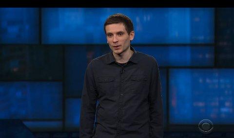 Daniel Simonsen fra Bergen opptrådte på «The Late Show with Stephen Colbert» foran millioner av seere. (Skjermdump: CBS)