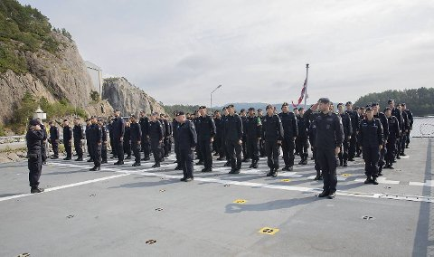 De neste fire måneden skal mannskapet om bord på fregatten KNM «Thor Heyerdahl» patruljere det nordlige Atlanterhavet.