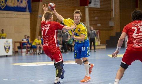 Herman Bredal Oftedal (19) spilte sin beste kamp i Fyllingen-drakten. Det hjalp lite. Fyllingen nådde aldri helt opp på nivået til Kolstad som vant fortjent.