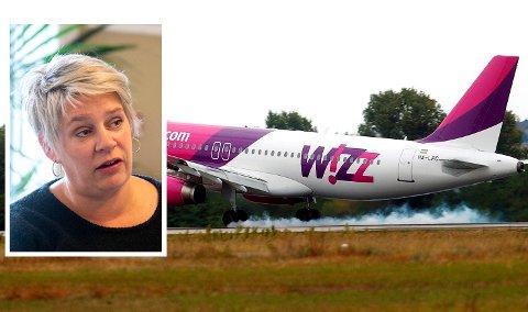 Wizz Air starter flyginger fra Flesland, men nå advarer ordfører Marte Mjøs Persen (Ap) mot å bruke selskapet.
