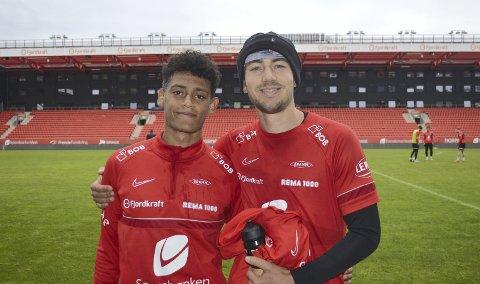 Japhet Sery Larsen og Fredrik Pallesen Knudsen var Branns niende stopperpar denne sesongen, og har spilt fast siden – med unntak av da Pallesen Knudsen måtte sone karantene. – Vi passer bra sammen, konkluderer «Palle».