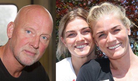 SØSTER-OPPGJØR: Pappa Henning Kristiansen er spent før døtrene Jeanett (t.v) og Veronica skal møtes i Champions League-semifinale på lørdag.