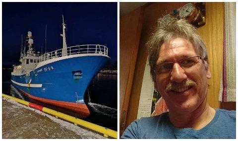 VENTAR PÅ SVAR: Jonny Sandøy, skippar på «Sjøvær» og dei 14 andre ombord ventar på å få svar på koronatestane sine.
