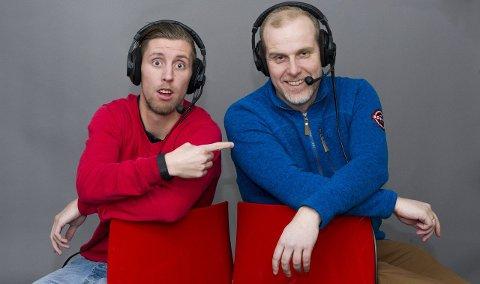 På nettradio: Christian Brevik (til venstre) og Stian Enghaug skal kommentere FFKs kamper på FBs nettradio kommende sesong. foto: Trond thorvaldsen