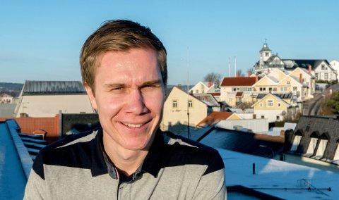 Innflytter: Truls Lian har flyttet til Fredrikstad fra Tønsberg for å jobbe i FB - og bli samboer.