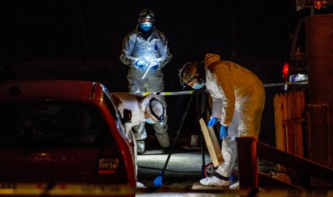 Etterforskningen av drapssaken på Lisleby har vært omfattende. Foto: Erik Hagen