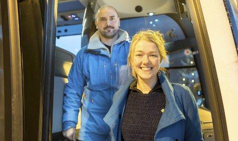 Lang tur: For Frank Vigart Eriksen ble det en lang tur nordover for å komme seg til Narvik og landsstyremøtet. Her sammen med nasjonal talspeson, Une Anita Bastholm. Begge foto: Andreas Haakonsen