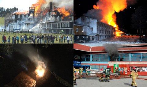 Dombås har vore utsett for mange alvorlege brannar dei siste åra.