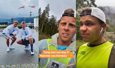 Espen Berg (27) og Christoffer Baksvær (27) ferierer ikke som alle andre. – Alt er kanskje ikke så gjennomtenkt.