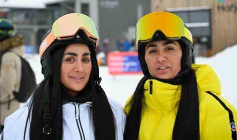 Vita og Wanda hadde tatt turen til Hafjell lørdag i vinterferien.