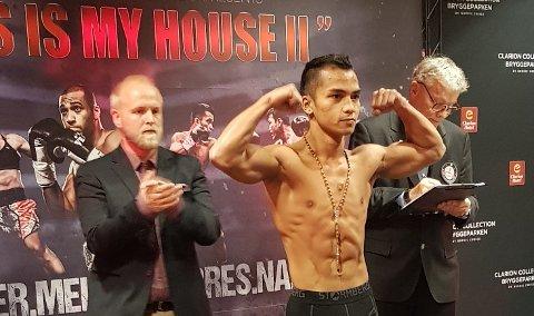 VEGAS: Bernard Torres vant sin sjette proffseier lørdag kveld. Nå venter ny kamp i Las Vegas. Foto Privat