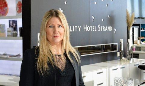 TØFF TID: Quality Strand Hotel har blitt hardt rammet av koronapandemien. Direktør Karoline Hammer-Larsen har varslet sine ansatte om stillingskutt.