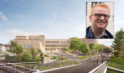 FORKJEMPER: Fredrik Holm er gruppeleder i Høyre og kjemper for å få reist storskolen på Os.