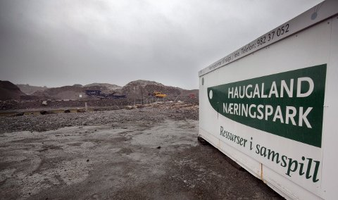 BLIR SOLGT: Haugaland Næringspark på Gismarvik blir solgt fra Haugaland kraft til kraftselskapets eierkommuner.
