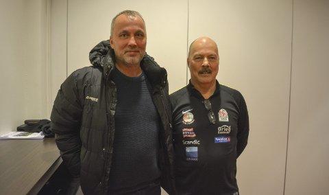 GODT INNLEG: Bjørn Aasmoe og Torkjell Johnsen var godt fornøyd med hvilke reaksjoner og tilbakemeldinger de fikk fra kretstingdeltakerne forrige helg.