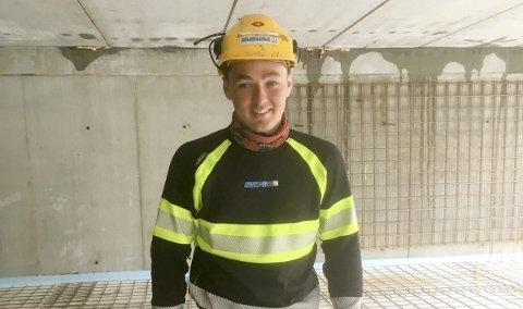 FINALEKLAR: Nord Norsk Bygg-lærlingen Tom Ove Strifeldt (20) fra Alta representerer Finnmark i NNM i byggfag i kategorien Betongfag.