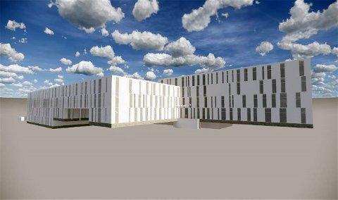 Nye Hammerfest sykehus sett fra sør.