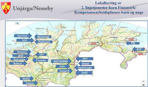 ØST VS VEST: Slik fordeler den barnefaglige helsekompetansen seg i Finnmark.