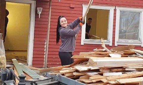 NEGATIVE KOMMENTARER: Camilla Eidnes Pettersen har fått en del negative kommentarer, når hun har fortalt om huset hun har kjøpt.