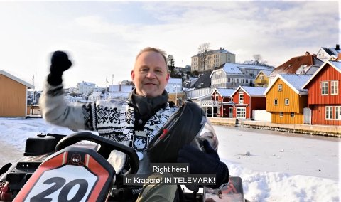 SVARER WILL FERRELL: Ordfører Grunde Wegar Knudsen (Sp) utfordrer Hollywood-stjernen til kappløp med elektriske gokarts.