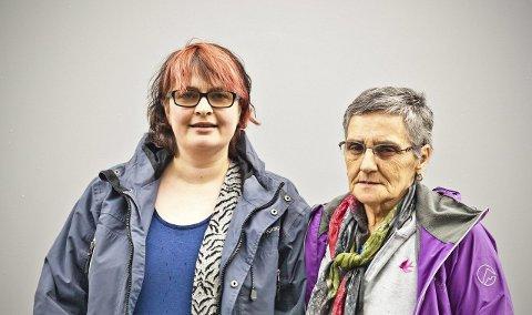 Bekymret for tilbudet: Jenny Fagerheim og May Britt Moe mener tilbudet på aktivitetssenteret for psykisk helse og rus er blitt for dårlig.