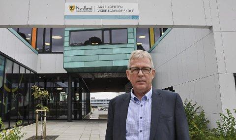 Rektor: Hugo Bjørnstad ved Aust-Lofoten videregående skole.