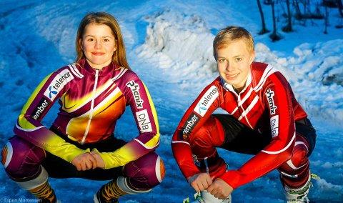 Ansgar Kristiansen og Erle Bjørgaas har kvalifisert seg til å represenre Nordland skikrets i Super-G, storslalåm og slalåm på Voss denne helga.