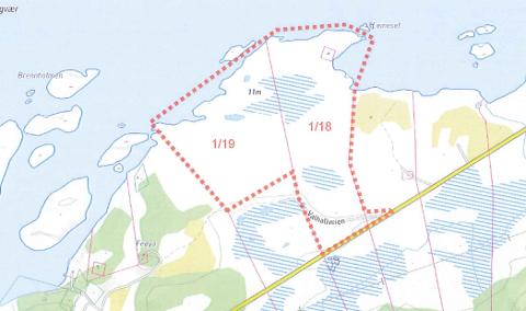 Hyttefelt: Her vil Tromsøselskapet Norsk Hytteutvikling AS satse på et omfattende hyttefelt.