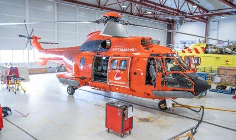 SUPER PUMA: Helikopteret vil etter planen være i drift fra mandag ettermiddag.