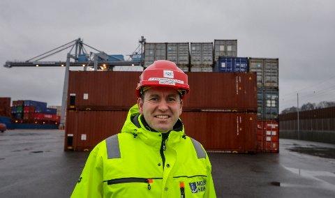 Havnesjef Øystein Høsteland Sundby kan snart si at Moss Havn har gjennomført alle planlagte tiltak for redusering av støy.