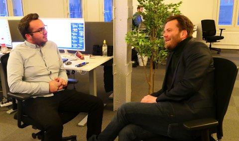 DOBBELT OPP: Hverken Lorns Bjerkan (t.v) og Lornts Tønne har opplevd å ha en navnebror på arbeidsplassen.