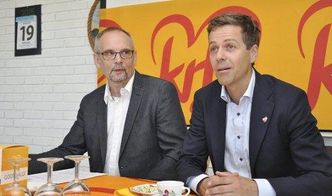 STØTTE FRA FINNMARK: Partileder Knut Arild Hareide kan regne med støtte fra Svein Iversen og flere i Finnmark for sitt veivalg. Men delegatene til landsmøtet har ikke bundet mandat.