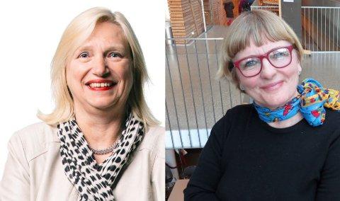 - NYTT FOR MEG: Høyres Frid Fossbakk (t.h.) sier hun var ukjent med at Line Fusdahl (t.v.) er foreslått inn i det prestisjetunge kommune- og byutviklingsutvalget.