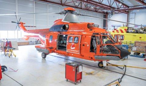 SUPER PUMA: Helikopteret var i drift for helseforetakene fra 1. april til i midten av september. Foto: Eskil Mehren