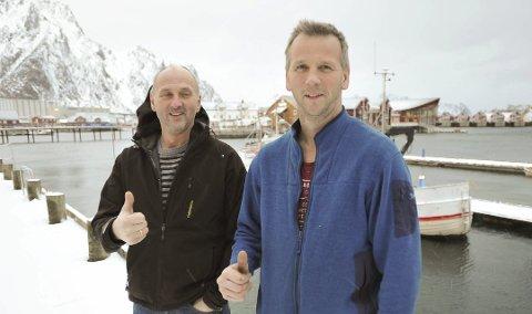Forventning: Brødrene Leif Einar og Bjørn Karlsen (th) ønsket seg en flunkende ny, moderne fiskebåt til Svolvær, og nå har de kontrahert seg en 13-metring.