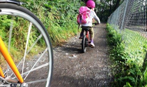 Sammen med en voksen kan man som oftest starte tidlig å sykle til skolen hvis ferdighetene er tilstrekkelig gode.