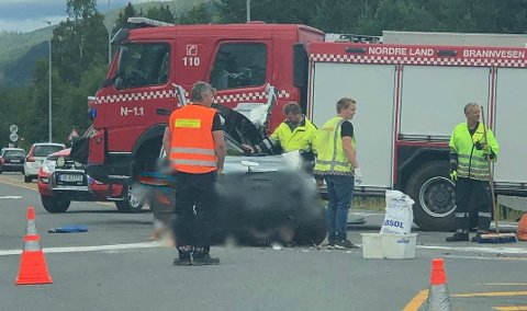 TRAFIKKFARLIG: Mandag skjedde nok ei ulykke ved krysset Jevnakervegen - Odnesvegen fv. 33 på Dokka.