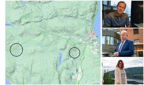KANDIDATENE: Hasvalsætra og Bjugstadmarka markert. Fra øverst til høyre: Øivind Hansebråten, Torvild Sveen og Anne Hagenborg.