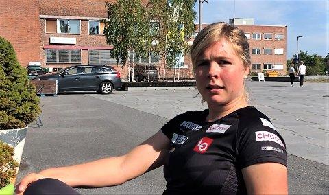 KLAR TALE: Maren Lundby snakker ut om hva hun tror ligger bak bråket mellom skiforbundet og Clas Brede Bråten mellom øktene med dansetrening i Oslo.