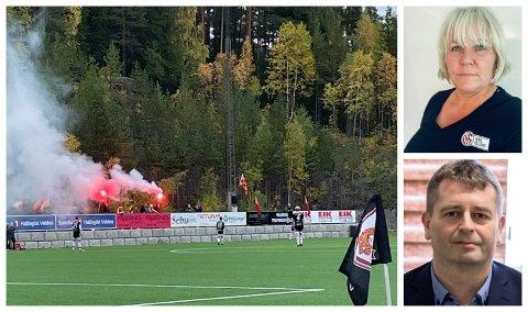 SJELDEN: - Det er nulltoleranse for alkohol, rasisme eller annen form for personsjikane på fotballkamper, sier daglig leder Janicke Gonstad og administrasjonskonsulent Remy Uteng i NFF Indre Østland.