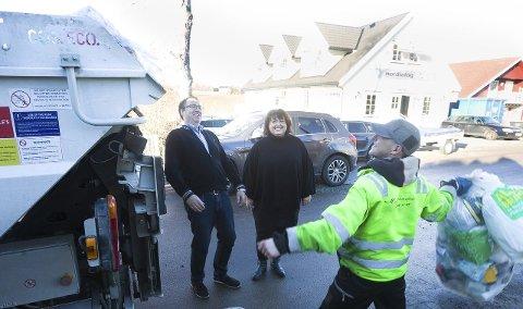 Follo ren plastinnsamling Runar jacobsen daglig leder og Pia Kathrine Løseth Kommunikasjonssjef