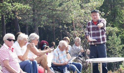 Kjentmann: Reidar Haugen er den fødte guide til skogs i Ski.